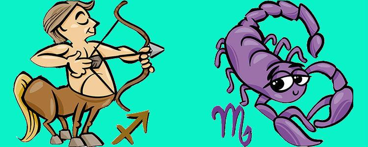 Скорпион Женщина и Стрелец Мужчина