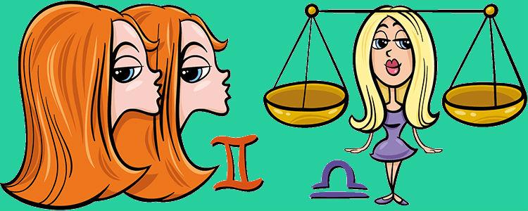 Близнецы женщина и Весы мужчина