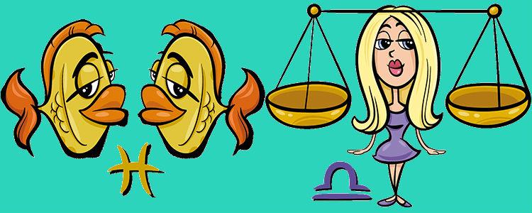 Рыбы Женщина и Весы Мужчина