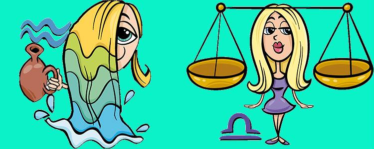 Весы Женщина и Водолей Мужчина