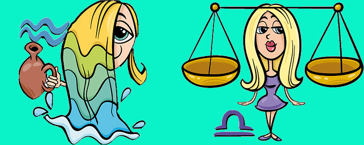 Водолей Женщина и Весы Мужчина